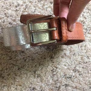 Michael Kors Women's Metallic Belt